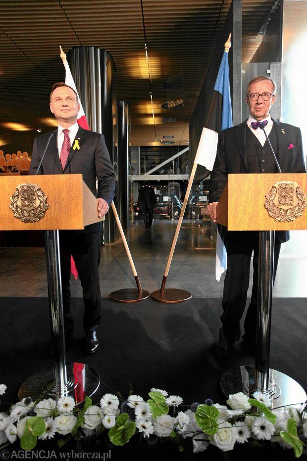 Prezydent Andrzej Duda podczas wizyty w Tallinie