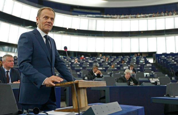 Tusk w Parlamencie Europejskim