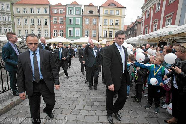 Prezydent Bronisław Komorowski w Poznaniu w czerwcu 2014 roku