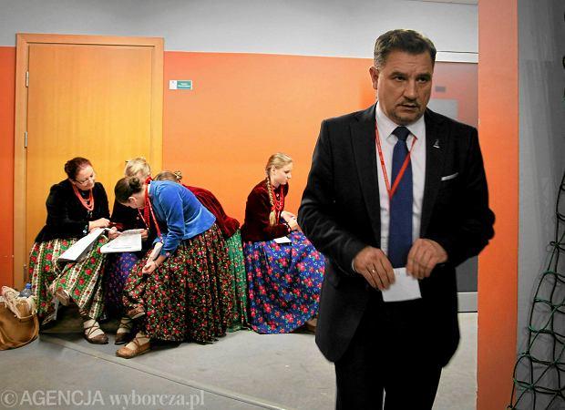 Piotr Duda podczas wyborów przewodniczącego NSZZ