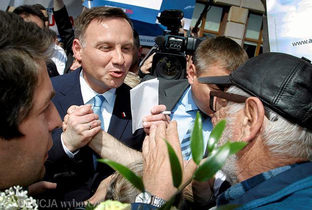 Andrzej Duda na piątkowym wiecu wyborczym w Dąbrowie  Górniczej