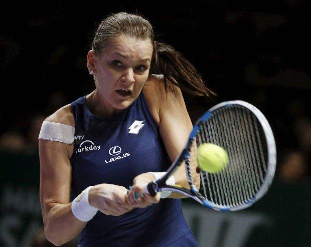 Agnieszka Radwańska w meczu z Petrą Kvitovą