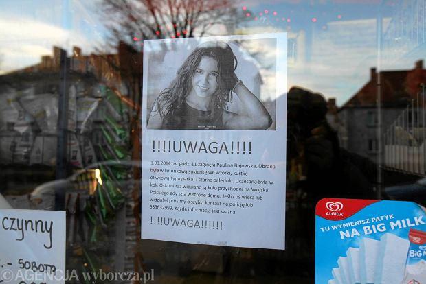plakat o zaginionej