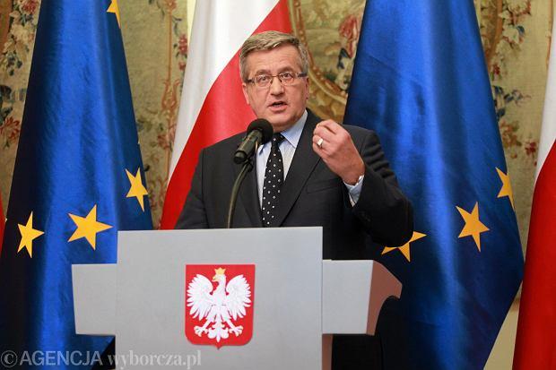 Bronisław Komorowski na konferencji poświęconej pierwszej turze wyborów samorządowych