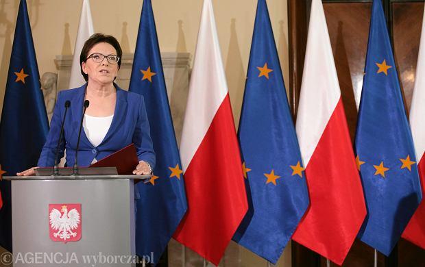 Dymisje w rządzie. Premier Ewa Kopacz.