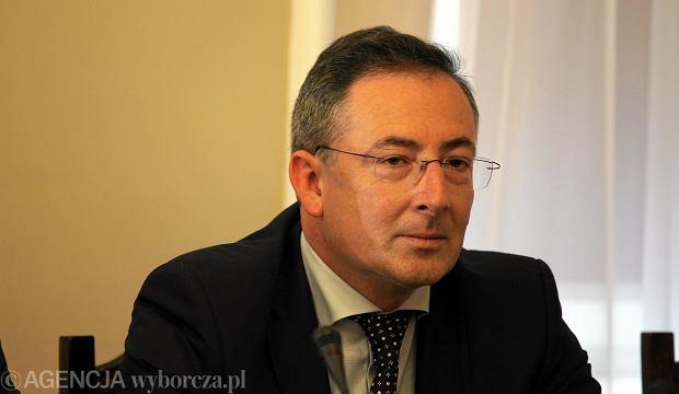 Minister spraw wewnetrznych Bartlomiej Sienkiewicz podczas przesłuchania przed sejmową komisją spraw wewnętrznych