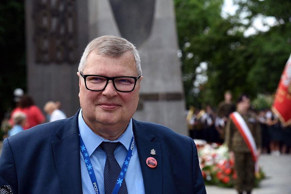 Andrzej Białas podczas uroczystości rocznicowych Poznańskiego Czerwca