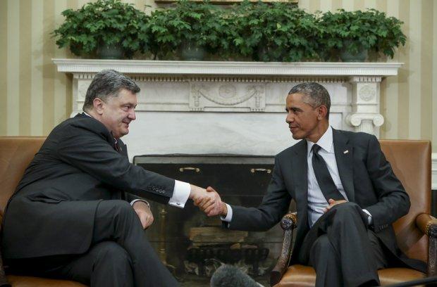 Petro Poroszenko i Barack Obama
