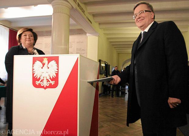 Prezydent Bronislaw Komorowski i pierwsza dama Anna Komorowska