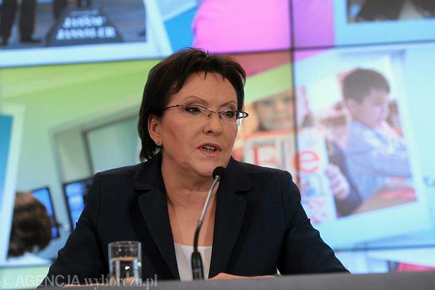 Konferencja prasowa premier Ewa Kopacz