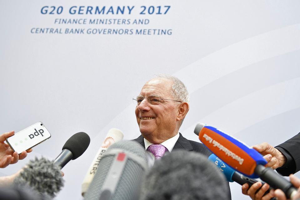 Na spotkaniu G20 nie mogło zabraknąć ministra finansów Niemiec Wolfganga Schaeuble