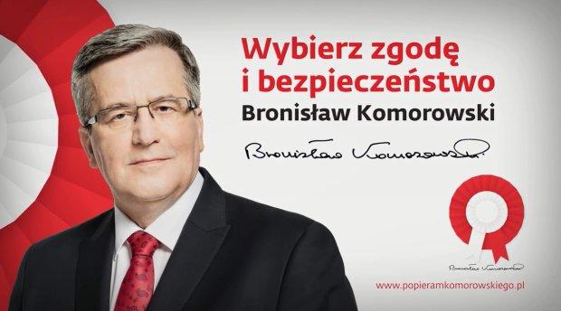 Kadr ze spotu wyborczego Bronisława Komorowskiego