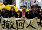 Parasolki znowu na ulicach Hongkongu