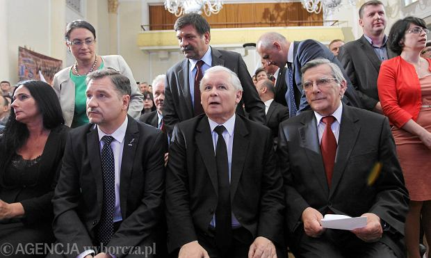 Jarosława Kaczyńskiego i Andrzej Smirnow (po jego prawej stronie)