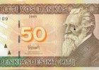 Litwini malują łzy na banknotach. Wkrótce może zastąpić je euro