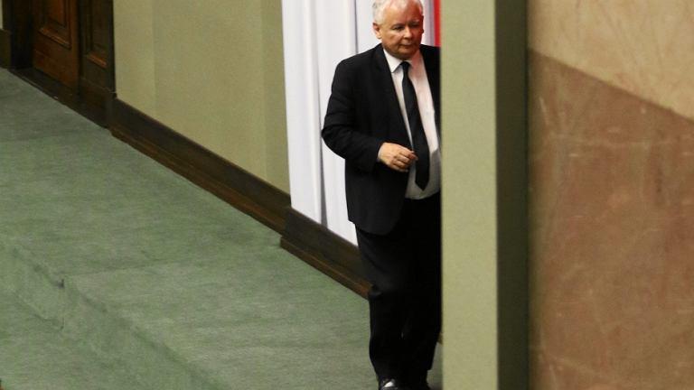 Jarosław Kaczyński podczas 44. posiedzenie Sejmu VIII Kadencji