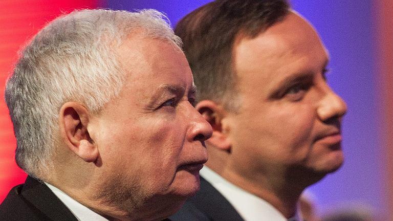 Jarosław Kaczyński i Andrzej Duda (fot. Dawid Zuchowicz/AG)