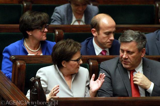Premier Ewa Kopacz i wicepremier Janusz Piechociński