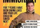 """W Londynie na plakatach chłopak z Polski: """"Przez siedem lat ratowałem życia, twoje może być następne"""""""