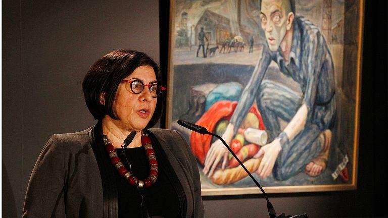 Ambasador Izraela w Polsce Anna Azari podczas obchodó 73. rocznicy wyzwolenia Auschwitz