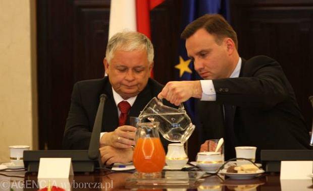 Lech Kaczyński i Andrzej Duda w 2009 r.