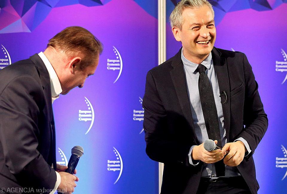 Europejski Kongres Gospodarczy w Katowicach, 11 maja 2017 r.Prezydent Słupska Robert Biedroń po rozmowie z dziennikarzem Kamilem Durczokiem.