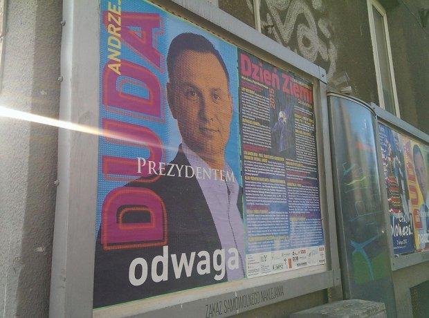 Plakat wyborczy Andrzeja Dudy