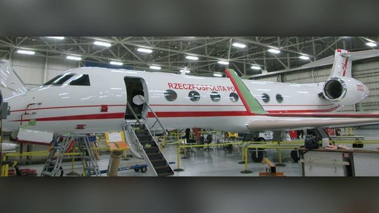 Gulfstream G550, którym będą latać polskie VIP-y