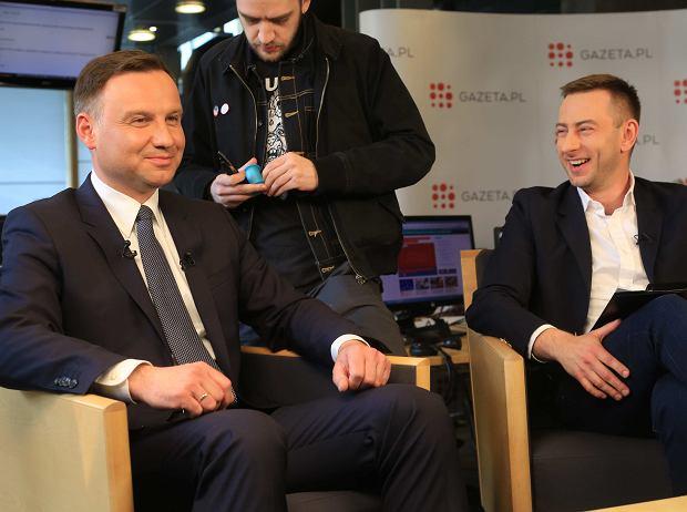 Andrzej Duda, Hangout w Gazeta.pl