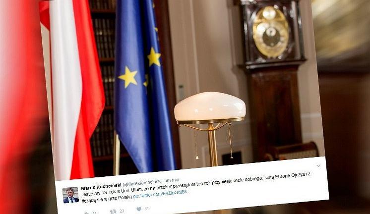 Wpis marszałka Sejmu z okazji 13. rocznicy wstąpienia Polski do UE
