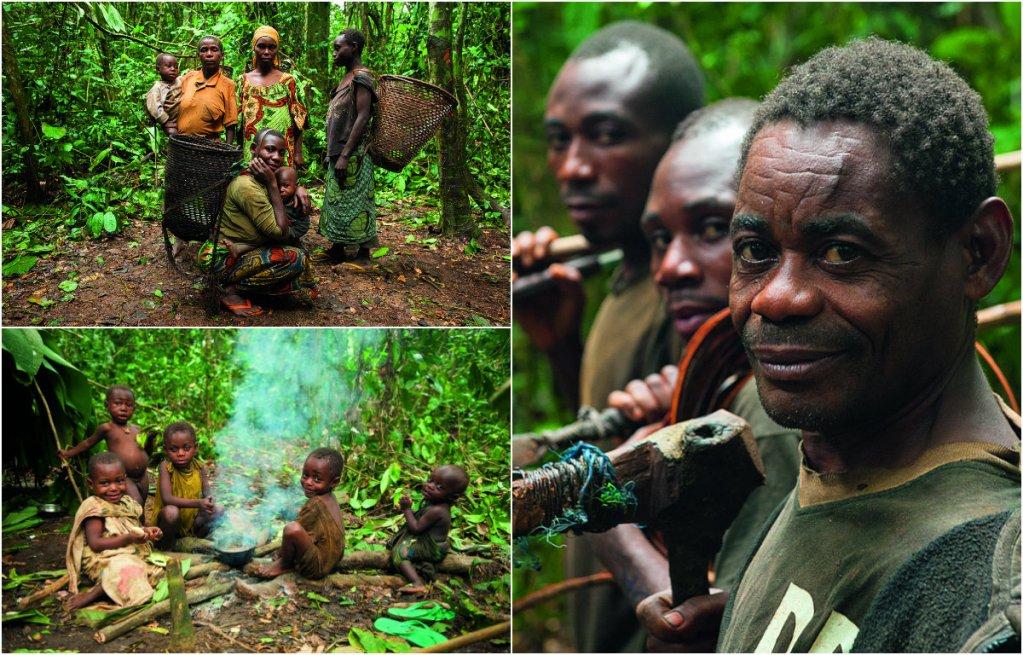 W lesie deszczowym w Kamerunie u plemienia Baka. Fot. Tomek Michniewicz