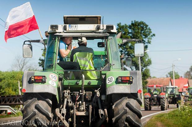 Lipcowy protest rolników w województwie podlaskim