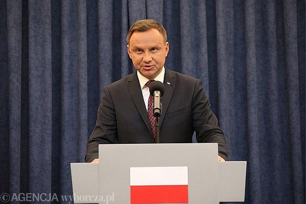 )Oswiadczenie Prezydenta RP Andrzeja Dudy