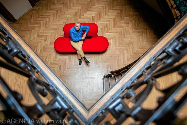 Dariusz Jaworski w siedzibie Instytutu Książki w Krakowie, maj 2016