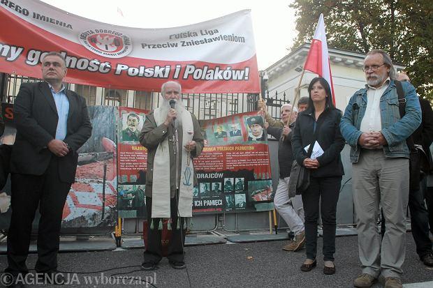75. rocznica agresji radzieckiej na Polske w Warszawie. Druga od prawej Anita Czerwińska.