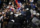 Mecz Albanii z Serbią przerwany. Kibice sprowokowali piłkarzy do bójki za pomocą modelu samolotu
