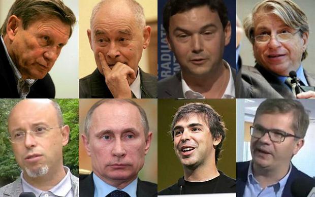 Leszek Balcerowicz, Marcin Król, Thomas Piketty, Benjamin Barber, Andrzej Leder, Władimir Putin, Larry Page, Sylwester Latkowski