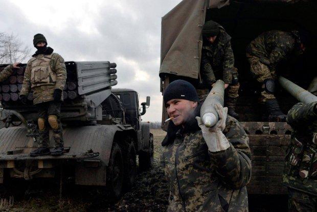 Ukraińscy żołnierze w pobliżu Debalcewe, 8 lutego