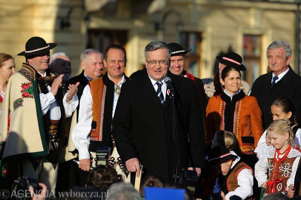 Bronisław Komorowski podczas spotkania z wyborcami w Nowym Targu