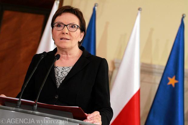 Premier Ewa Kopacz ogłosiła nowych ministrów