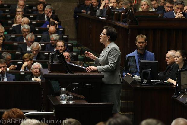 Ewa Kopacz wczoraj w Sejmie