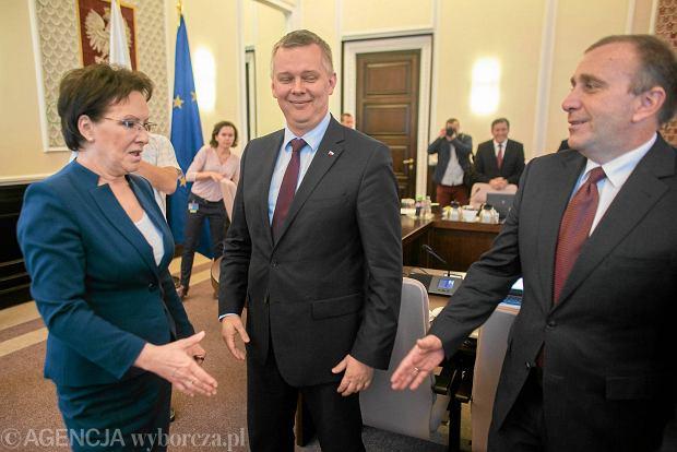 Premier Ewa Kopacz i szef MON - Tomasz Siemoniak