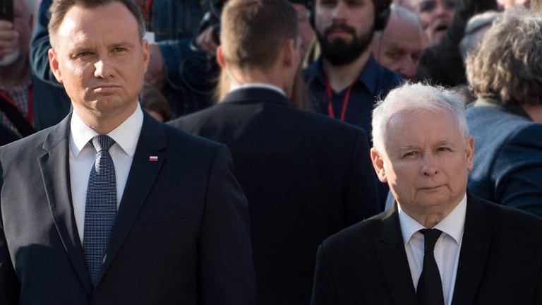 Prezes PiS Jaroslaw Kaczyński i prezydent RP Andrzej Duda