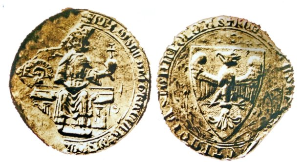 Denar Bolesława Chrobrego i pieczęć Przemysła II