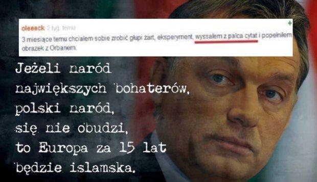 Rzekomy cytat z Viktora Orbana