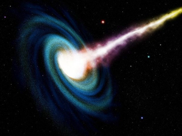 Komputerowa symulacja czarnej dziury pochłaniającej galaktykę
