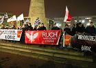 Narodowcy i KNP protestowali z uśmiechem [ZDJĘCIA]