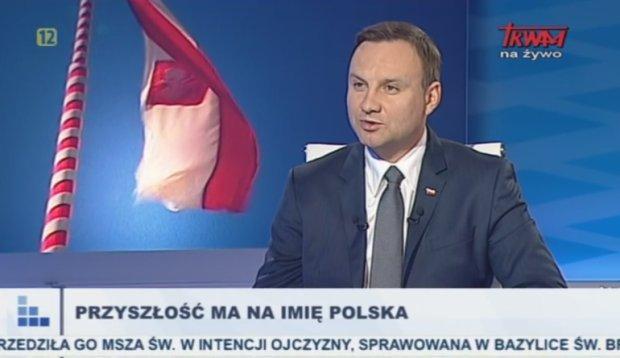 Andrzej Duda w TV Trwam i R. Maryja