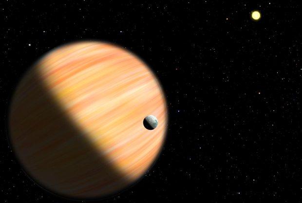 Czy tak wygląda planeta OGLE-2014-BLG-0124Lb, położona 13 tys. lat świetlnych od Ziemi? Nie wiadomo, to tylko wizja artysty, ale wszystko wskazuje na to, że jest podobna do naszego Jowisza