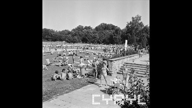 Pływalnia GKS Olimpia w Parku Kasprowicza, 10.08.1975 r.